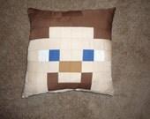 Minecraft Steve Pillow