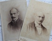 Two Vintage Creepy Cabinet Cards