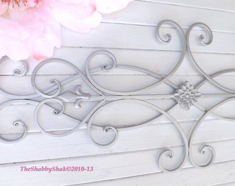 Wrought Iron Wall Decor / Indoor /Outdoor / Cottage Style / Fleur de Lis / Shabby Chic Decor / Bedroom Wall Decor / Kitchen Decor