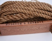 Personalized Gift Wooden Rope Tree Swing -15ft. - Made in USA
