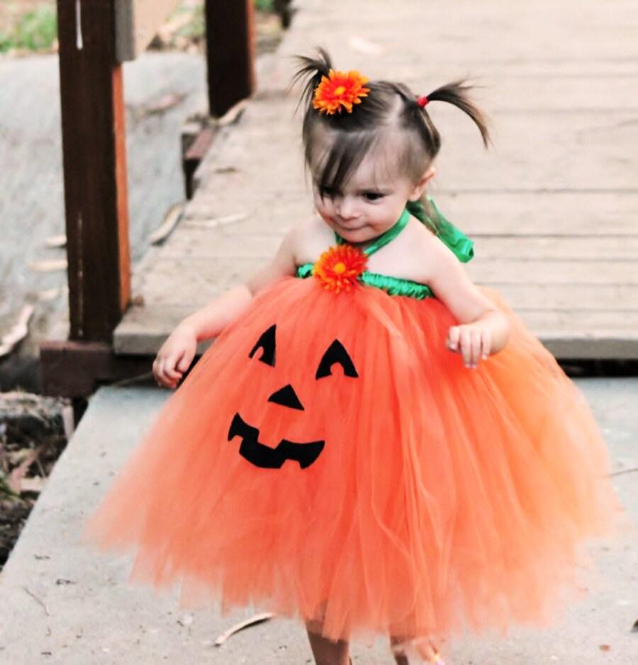 Girly Pumpkin Costume Pumpkin Costume Halloween Tutu