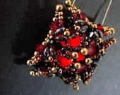 Magma Red Luna Soft Square Pendant