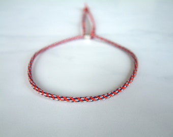 NAUTiC - Thin Adjustable Cord Bracelet - Woven - Surfer Style - Unisex - Hand Knotted by fig&fig
