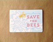 SAVE THE BEES...Postcard