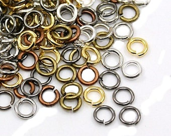 100 Jump Rings 6mm x 1mm Assorted Finishes  - J41