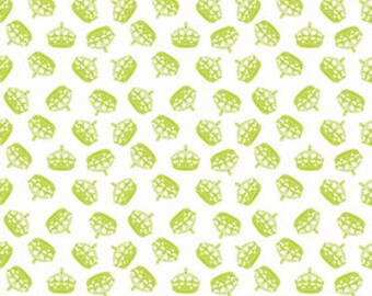 Riley Blake Crown in Lime Fabric Hollywood Sparkle Fabric One Yard