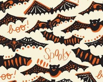 Halloween Bat Fabric Maude Asbury Fabric Gone Spooky Ivory Spooktacular Too Halloween Fabric by the Yard One Yard Fabric