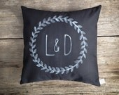 Custom Couple Me & You Decorative Black Typography Pillow, Personalized Custom Pillow Cover His and Hers Wedding Gift MADE TO ORDER