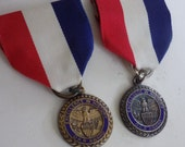 """Antique Daughters of the American Revolution """"Excellence in History"""" 1930s ribbon pins, collectible antiques"""