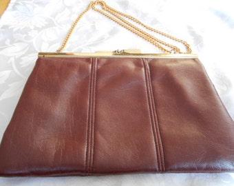 "Vintage purse, 1960s retro purse, signed ""JR Canada"" clutch purse, designer purse, womans accesory"