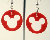 Upcycled, Disney Mickey Mouse, Trivial Game Piece, Earrings