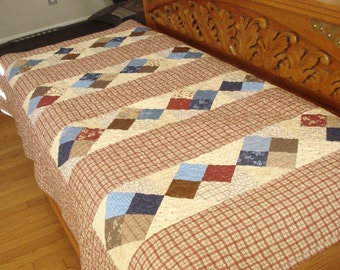 Plaid Block Runner Lap Quilt