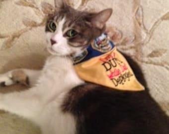I'm on DUTY While Dad's Deployed, US Army Dog or Cat Reversible Bandana, Small