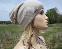 Bohemian Clothing Lightweight Beanies Summer Hat Tan Cotton Slouchy A1357
