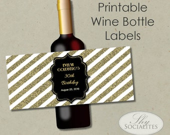 printable wine label etsy. Black Bedroom Furniture Sets. Home Design Ideas