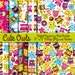 Cute Owl Digital Printable Papers Scrapbook Papers or Wallpaper Backgrounds - Commercial and Personal Use