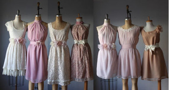 Mismatched Bridesmaid Dresses By AtelierSignature On Etsy