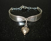 Vintage Silver Spoon Heart Bracelet Valentines Day Free Shipping