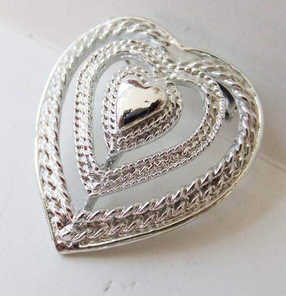 vintage jewelry brooch by gerrys in silver wedding
