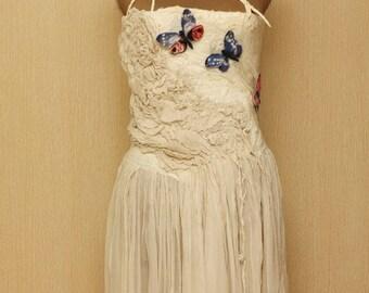 "The Broken Column / Frida Kahlo ""Viva la Vida"" Collection / Felted Clothing / Dress"