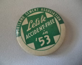 1953 Portland Cement Company Safety Pin Collectible