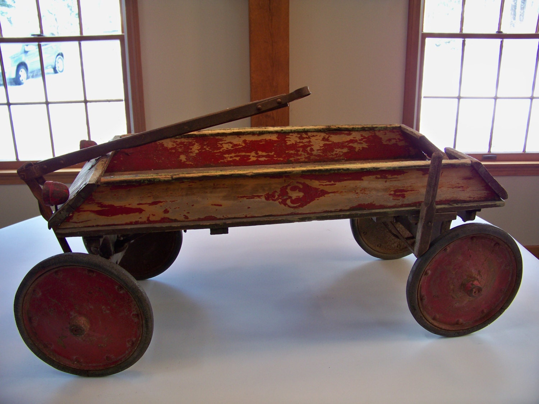 1924 Sheboygan De Lux Coaster Wagon Wooden Child S Wagon