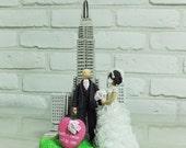 NY Empire State Building Manhatan theme wedding cak etopper