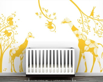 Yellow Kids Playroom Wall Decal Set - Eat, Play and Sleep - Special Editions by LittleLion Studio
