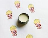 Buttered Popcorn Scented Lip Balm - Natural Shea Butter Lip Balm - Cocoa Butter - Beeswax - Lip Balm Tin - Lip Balm Favors - Matte Lipstick