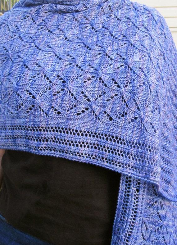 Snowflake Lace Knitting Pattern : Knit Shawl Pattern: Cable Lace Snowflake Shawl Knitting Pattern from Wearable...