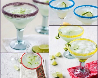 Colored margarita salts - colored salt to rim 100 margarita glasses or more - you choose your color - colored salt in bulk