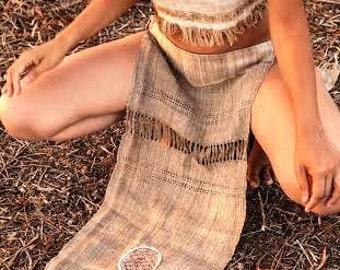 Panel Skirt ~ Nettle Fabric ~