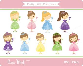 Pretty Little Princesses Clip Art