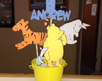 Handmade Classic Winnie the Pooh Party Centerpiece Pooh Piglet Eeyore Tigger