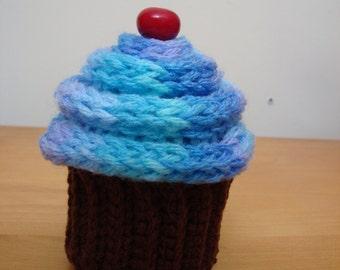 "Amigurumi Cupcake Pattern, ""Diet Cupcake"" Easy, Cute, Fun to Make, Computer Sitter, Faux Cupcake"