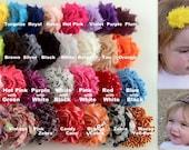 Lot of 16 solid flowers with 12 sold Shabby Chic Headband Set, Baby Headbands, teen headbands, adult headbands- all interchangable