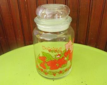 Vintage 1980 American Greetings Strawberry Shortcake Custard the Cat Candy Jar