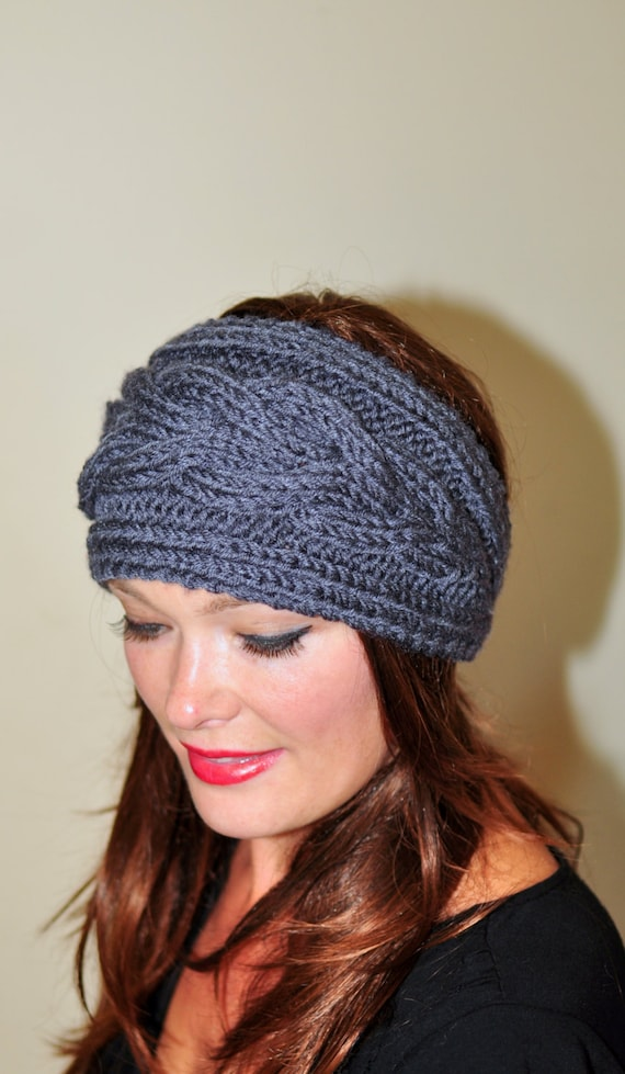 Earwarmer Cabled Ear Warmer Winter Crochet Headband Chunky Ear warmer ...