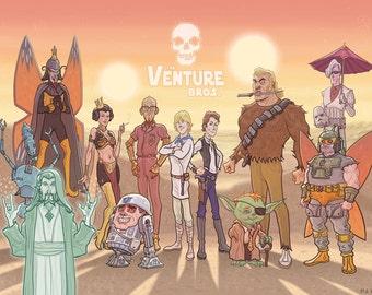 The Venture Bros Star Wars Mashup Print
