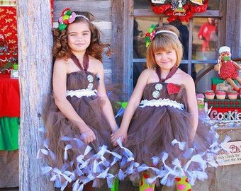Gingerbread Christmas Tutu Dress by Atutudes as seen in Mingle Magazine