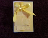 Blank Buttery Yellow Card with Ribbon