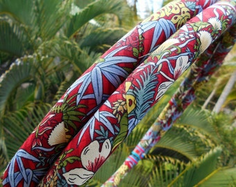 Aloha Jungle Fabric Hula Hoop with Custom Tubing, Diameter & Grip Options! Great for Beginners!
