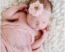 Baby headband, newborn headband, adult headband, child headband and photography prop The single sprinkled- Chiffon RUFFLE  headband