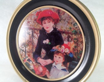 Cookie Tin Renoir Mother and Child Painting Tin Vintage 80s