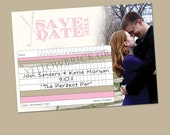 Golf Score Card Save the Date - Printed Invitations or Printable Files