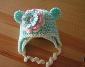 Baby hat for infants, newborn to 12  month  children hat - Melissa