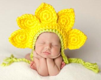 Newborn Flower Hat Photo Prop