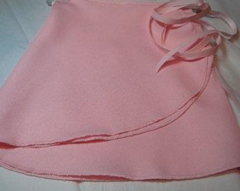 Pink Crepe Ballet Wrap Skirt, Adult, 14 inch