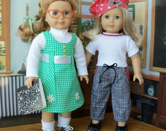 """PRINTED Sewing Pattern for 18"""" American Girl Dolls /  STUDY BUDDIES"""
