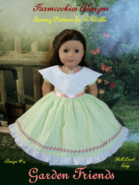 """PDF Sewing Pattern / Garden Friends / Fits  American Girl®   or Other 18"""" Doll"""